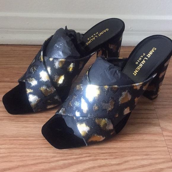 290a34637a6de Yves Saint Laurent Shoes | Ysl Glitch Leopard Print Heels | Poshmark